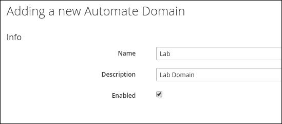 add new lab domain