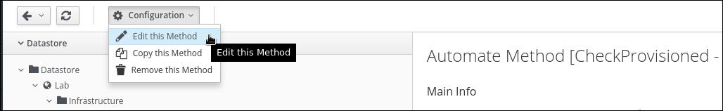 edit check provisioned method