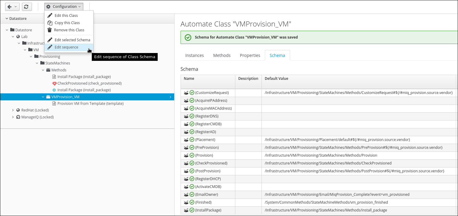 edit sequence of VM provisioning