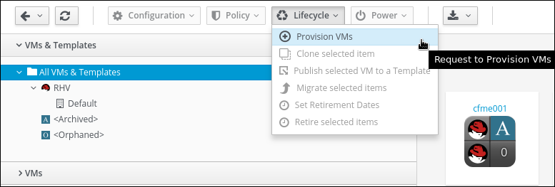 provision VMs