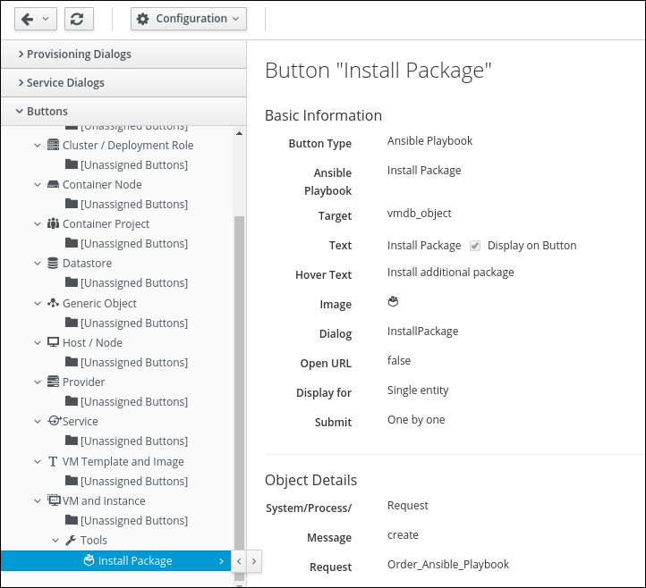 navigate to install package button