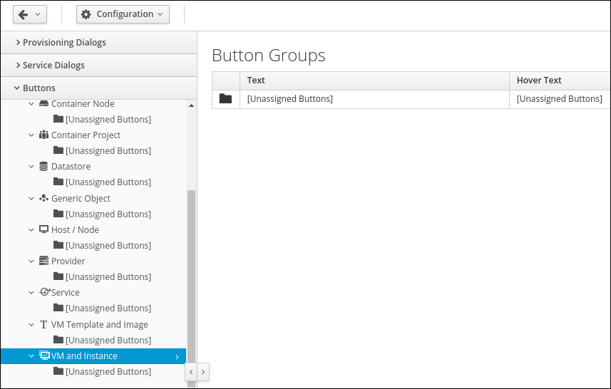 navigate to vm and instance