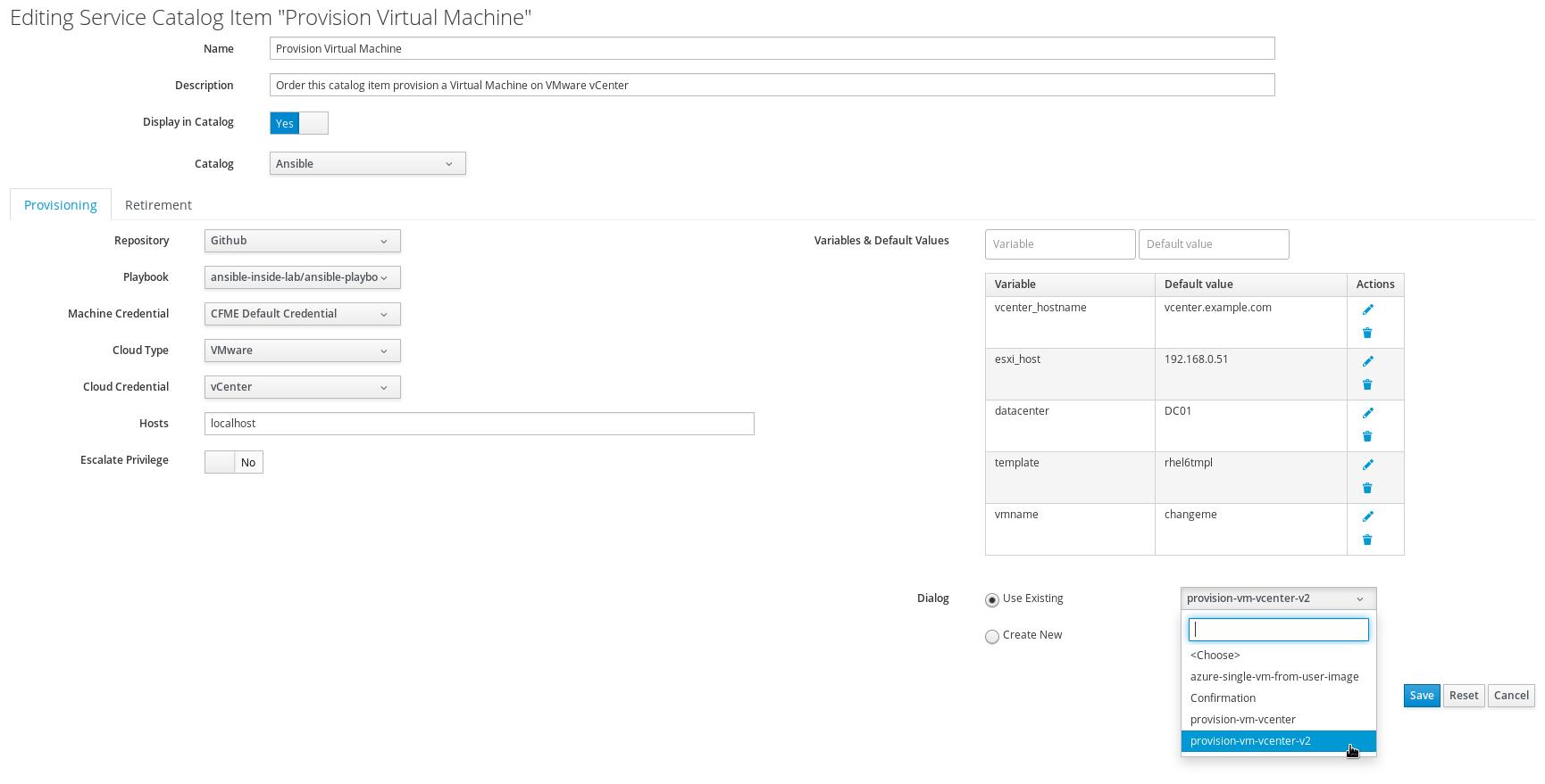 change dialog to provision-vm-vcenter-v2