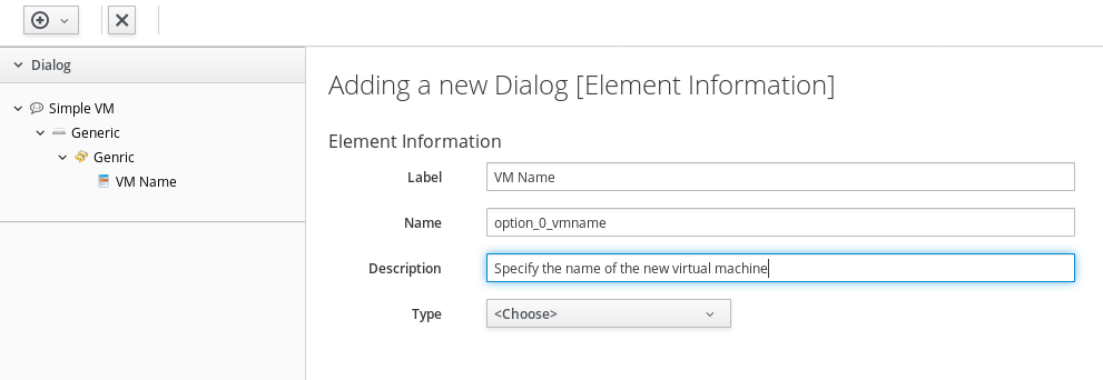 add a new element to ask for the VM name