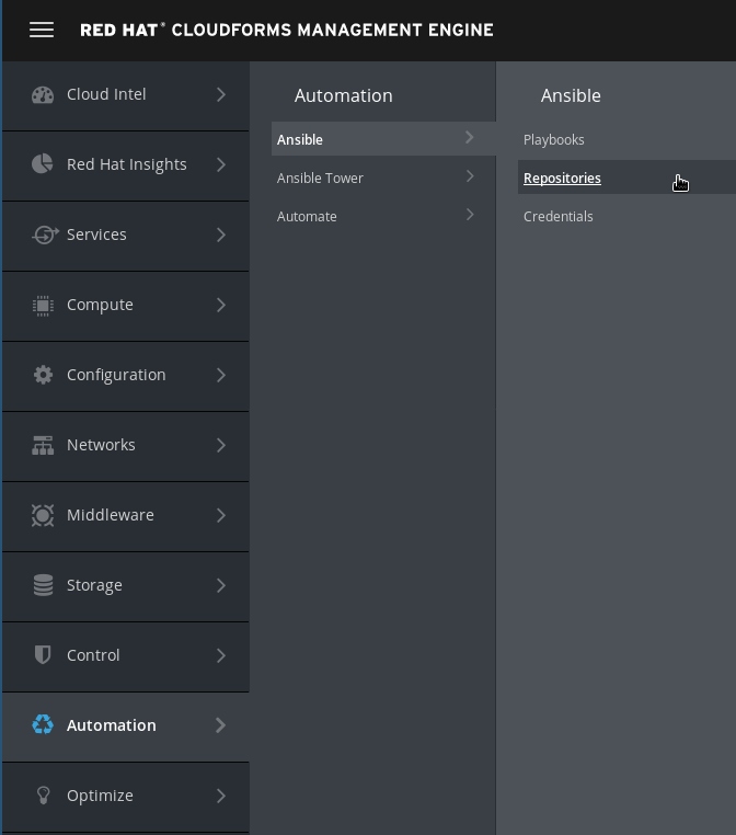 navigate to Ansible repositories