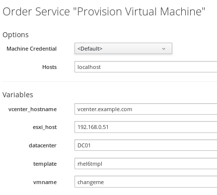 provision virtual machines details