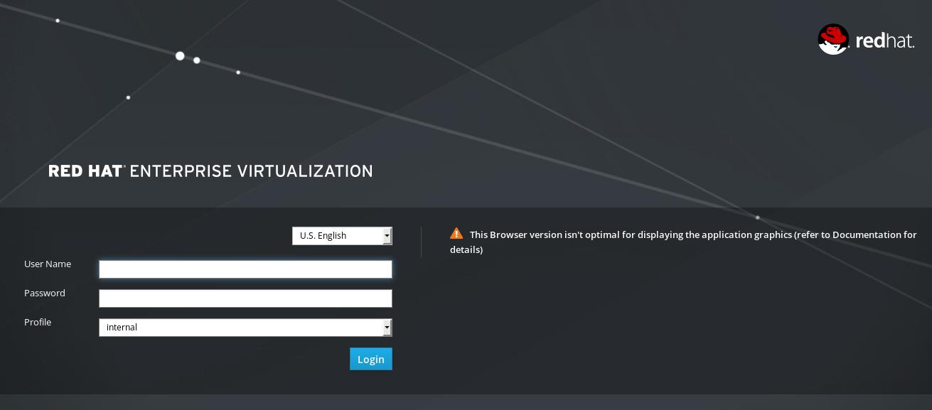 rhv admin portal