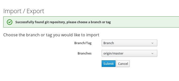 select Automate tag or branch