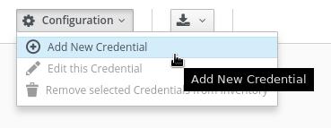 add new credentials