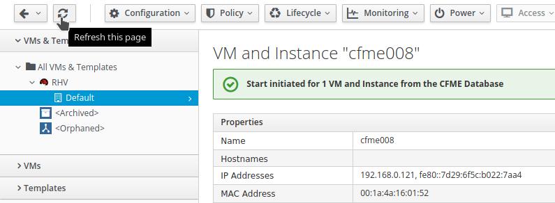 reload VM details