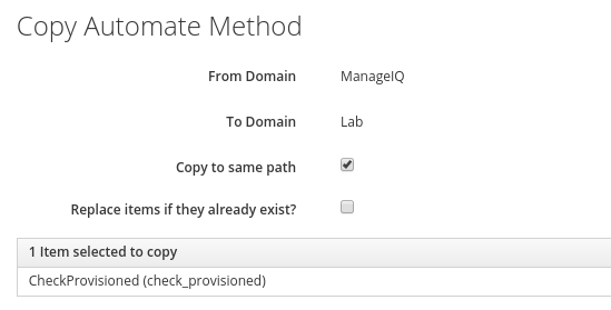 copy checkprovisioned Method details