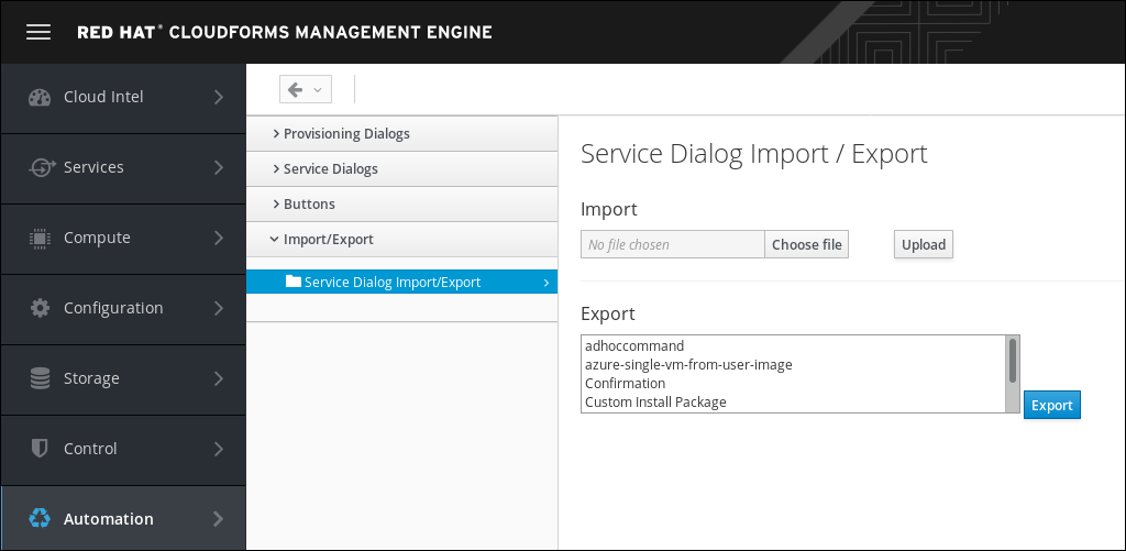 navigate to import/export