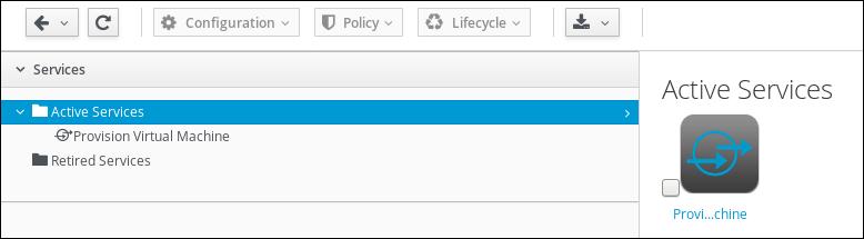 create user service tile