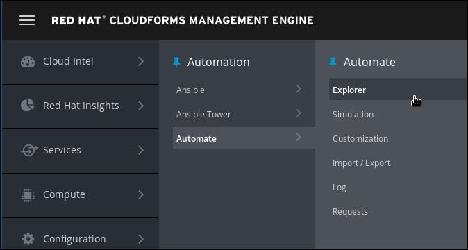 navigate to Automate Explorer