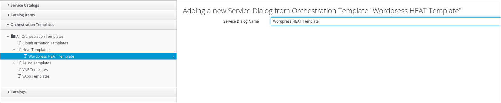 create service dialog from orchestration template