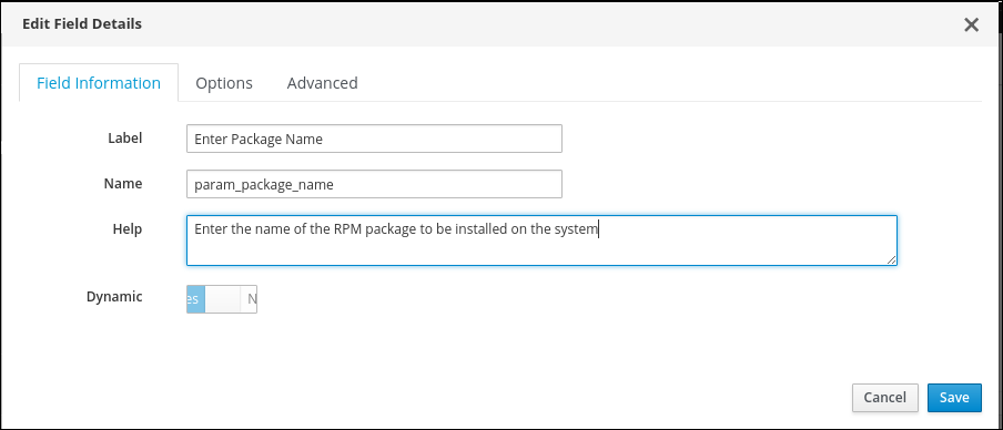 package_name field details