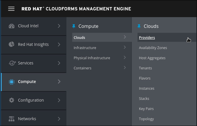 navigate to cloud providers