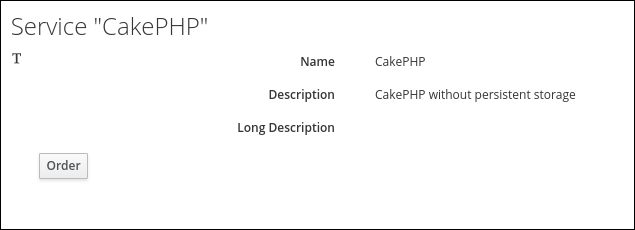 service item details