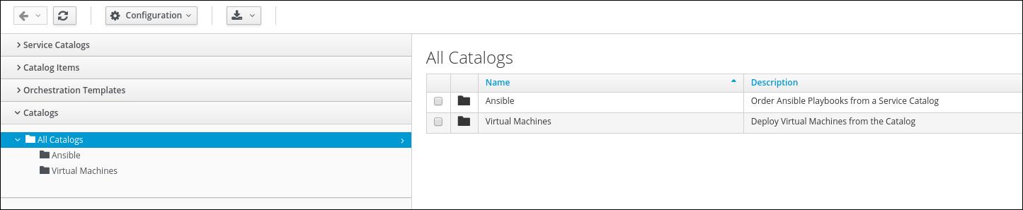 service catalogs