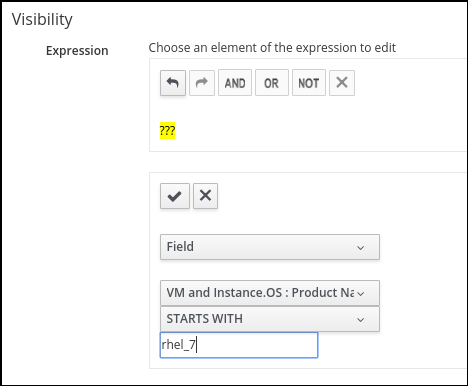 Visibility expression